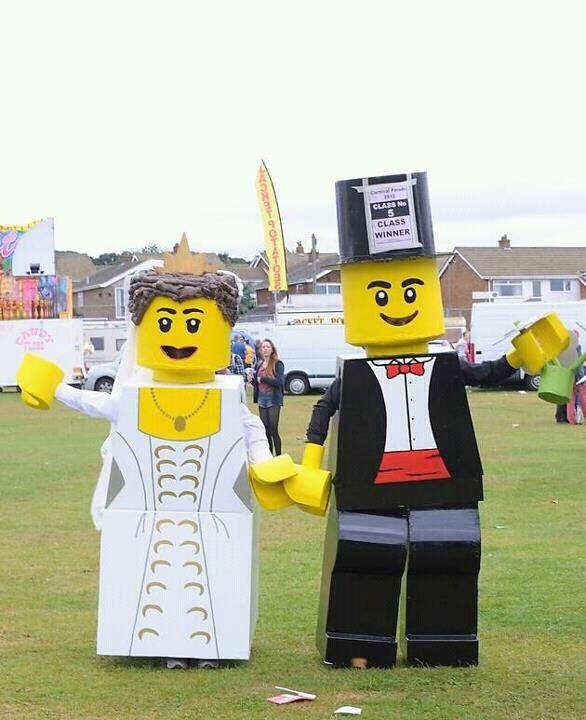 Lego costume & Me and my husband in our local carnival came 1st in our group ...
