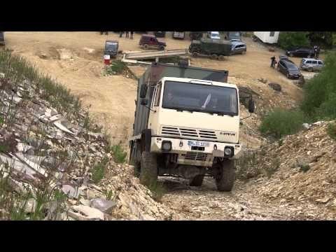 Steyr 12M18 in Langenaltheim beim Berg klettern - YouTube