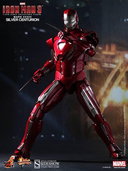 Marvel Iron Man Silver Centurian Armor Super heroes Figure New