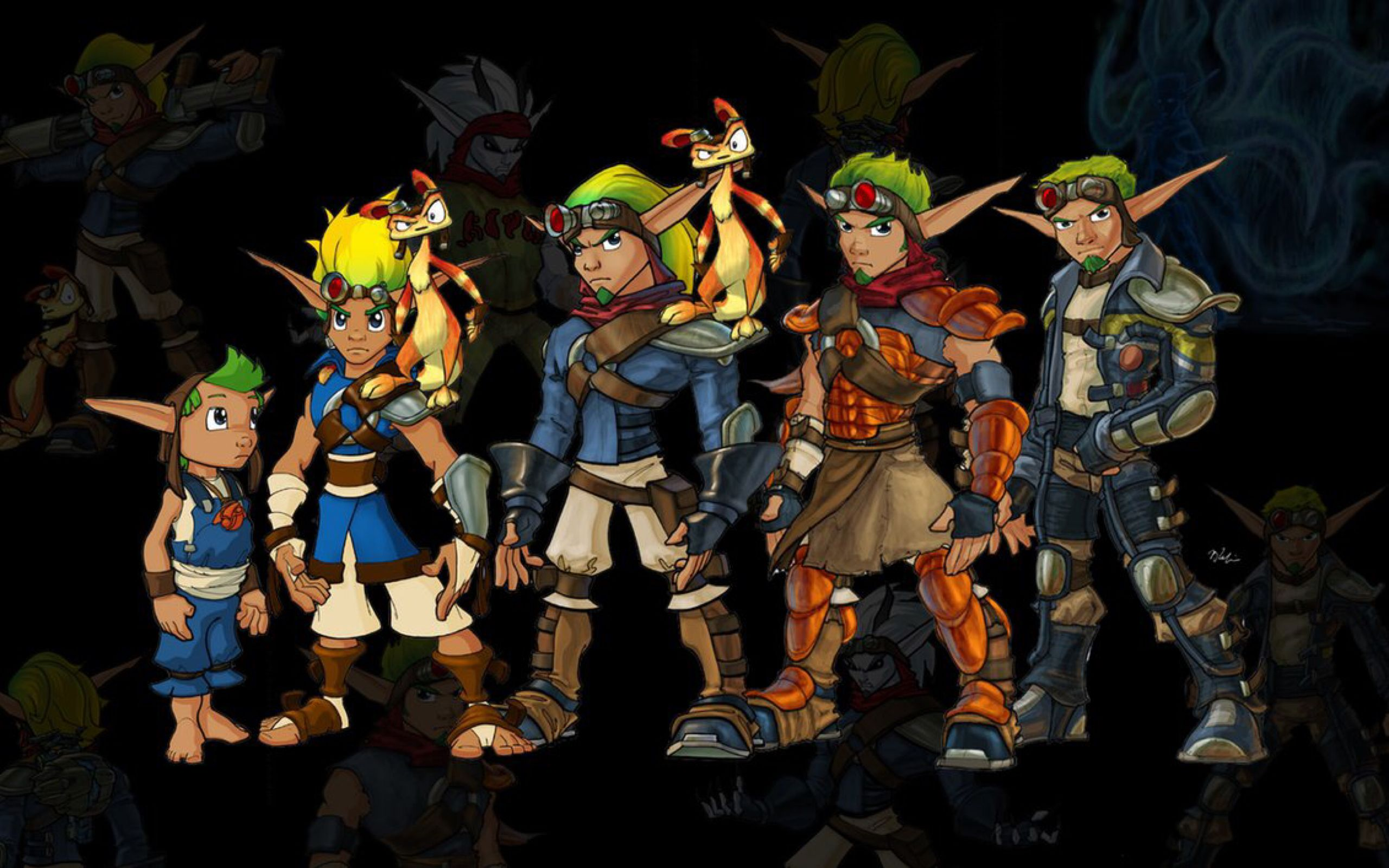 Jak Evolution Wallpaper By Kbabz On Deviantart Jak Daxter
