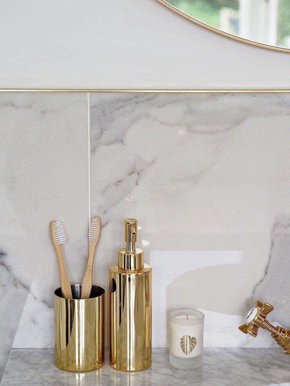Marble & Gold Bathroom | Gold & Marble Ensuite Bathroom | Pinterest ...