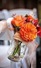 29 Stilvolle Möglichkeiten Zum Hinzufügen Von Orange, Um Ihre Herbst-Hochzeit …