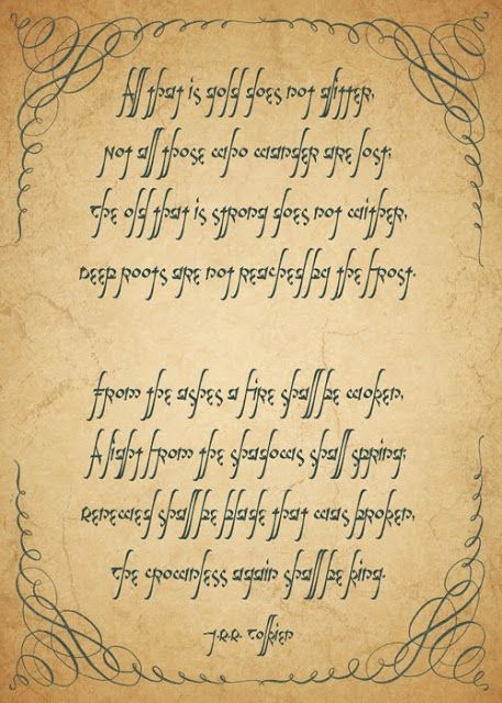 Heart Mind All That I Gold Doe Not Glitter The Hobbit Lord Of Ring Middle Earth Books Essay On