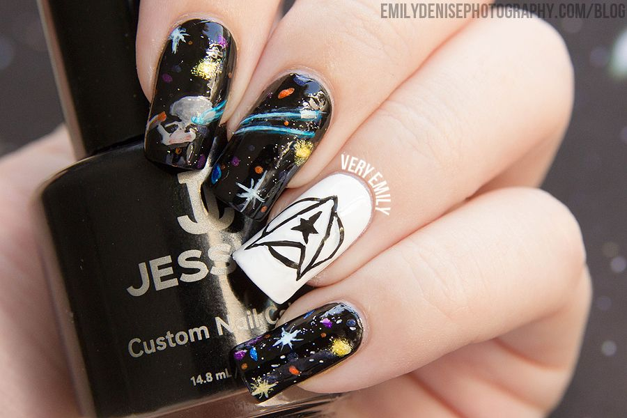 Star Trek Nail Art Nails Pinterest Star Trek Nails Fun Nails