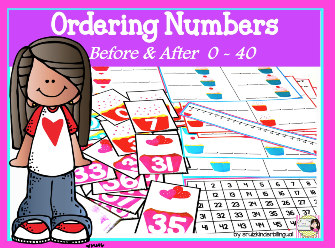 Order Numbers Before Amp After Numbers 0 40 English