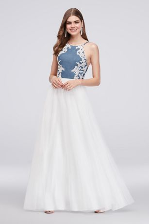 fbfcb34e3f3 Long Ballgown Halter Formal Dresses Dress - Blondie Nites