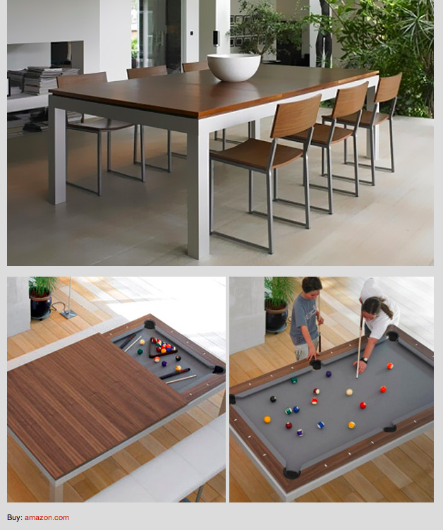How Cool Is This Fusion Pool Table And Dining Table Amazon
