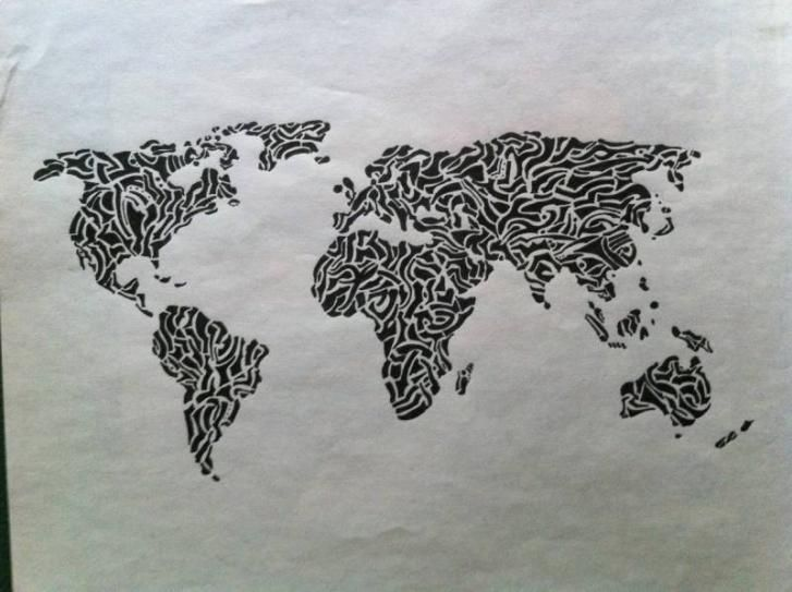 Creative world map kids room pinterest sketches creative world map gumiabroncs Images