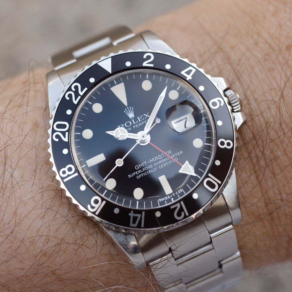Rolex 1675 Mk5 Maxi Dial GMT Master Rolex, Watches for