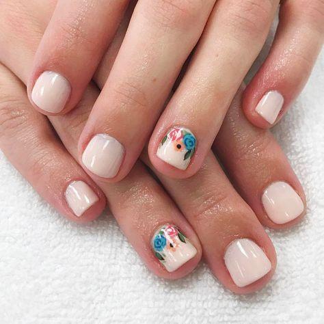 Uñas Cortas Decoradas 5 In 2019 Nails Gel Nails White