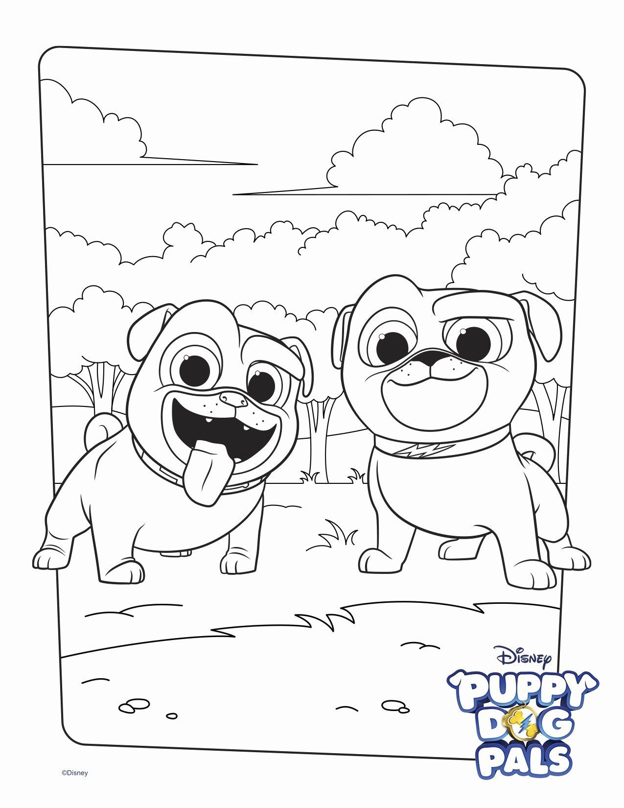 Halloween Dog Coloring Pages Awesome Bingo And Rolly Coloring Page Activity In 2020 Puppy Coloring Pages Dog Coloring Page Disney Coloring Pages