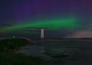 'Northern Lights paying sunny New Brighton a visit!'