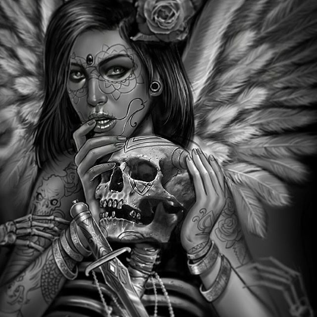 grim reaper imageduane cash  skull art art angel