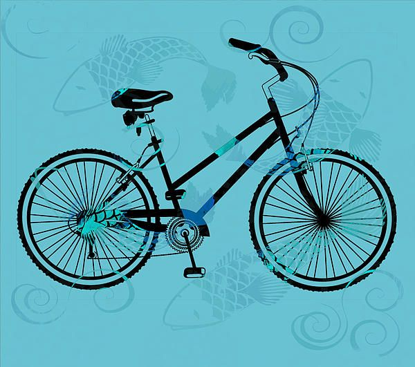 The Tattoo Bycicles - Black and Blue with Koi -  Bikes, bikes, bikes