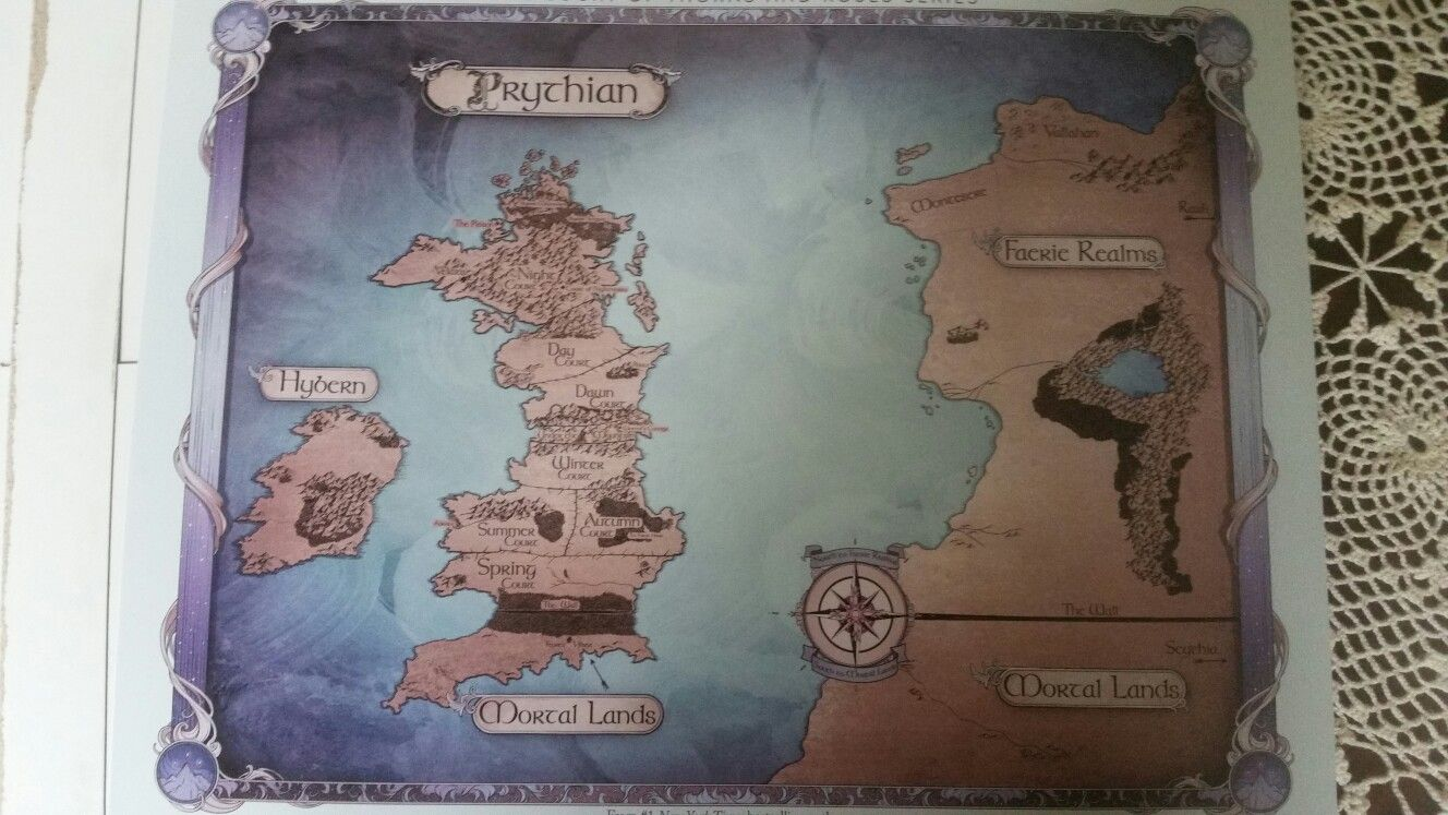 Full Map From A Court Of Thorns And Roses Series Acotar Acomaf