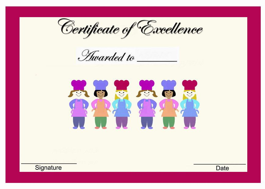Cooking and baking themed award certificates themed award cooking and baking themed award certificates yadclub Gallery