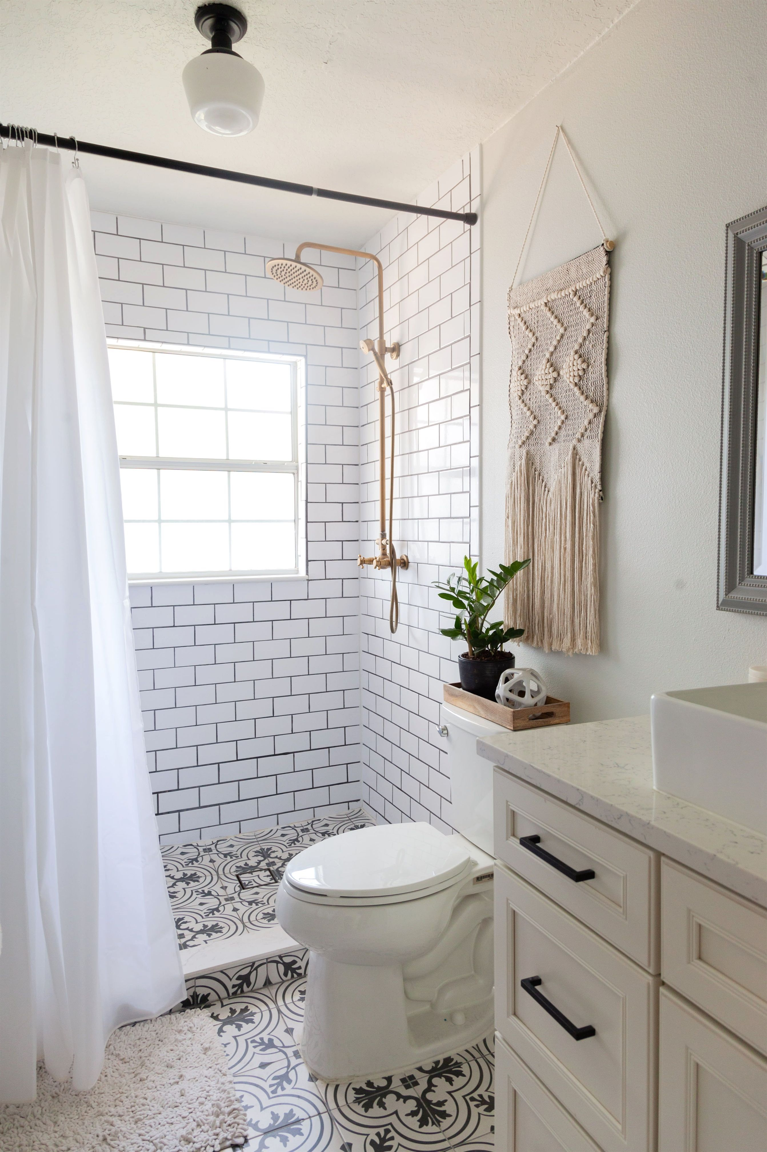 The Bathroom Tile Was Found At Overstock Bathroom Renovation Ideas Smallbathroom Small Bathroom Renovations Bathroom Design Small Minimalist Small Bathrooms