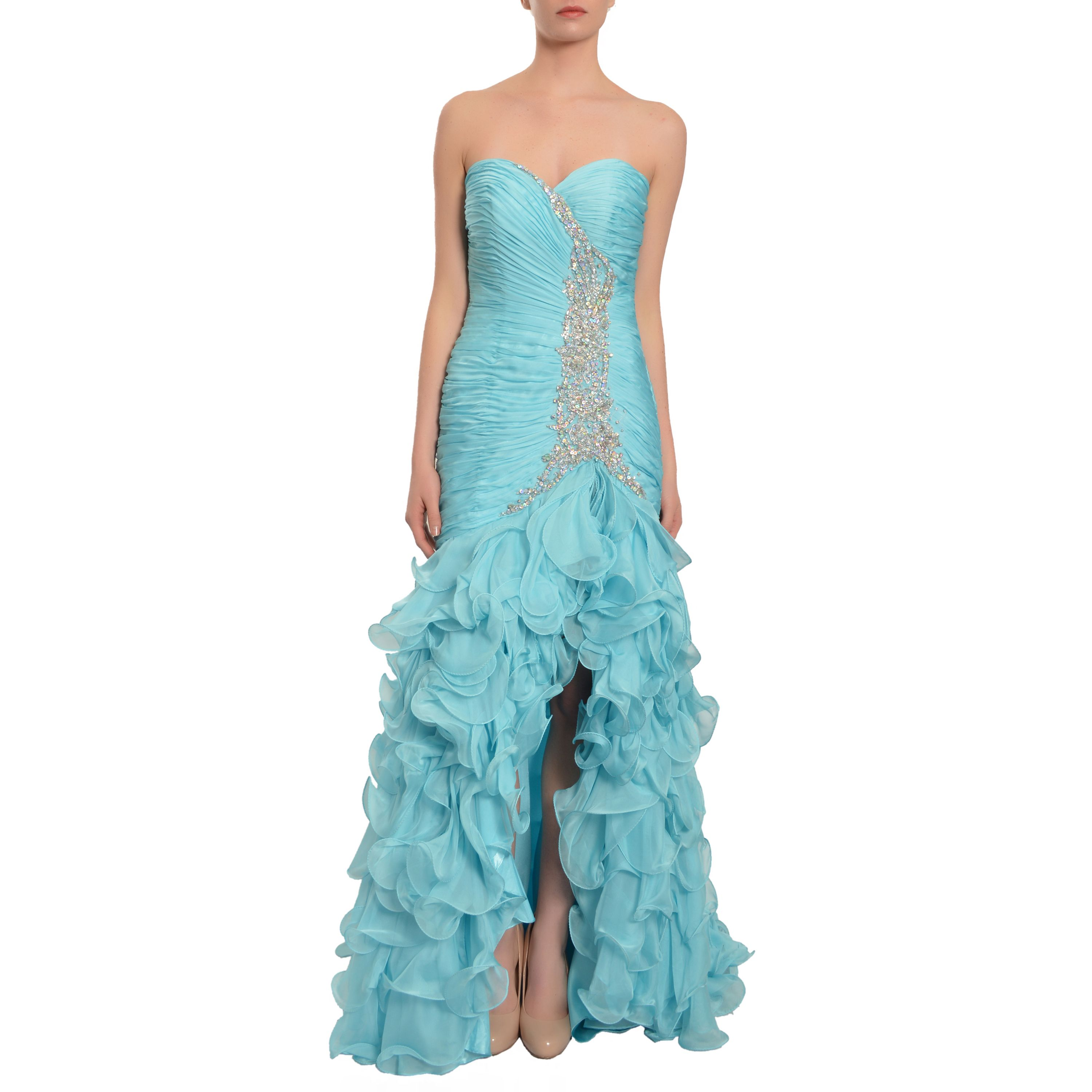 Mac Duggal Women\'s Sky Cascading Tiered Ruffle Gown (0) | Products ...
