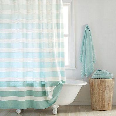 Croscill Spa Tile Fabric Shower Curtain Fabric Shower Curtains