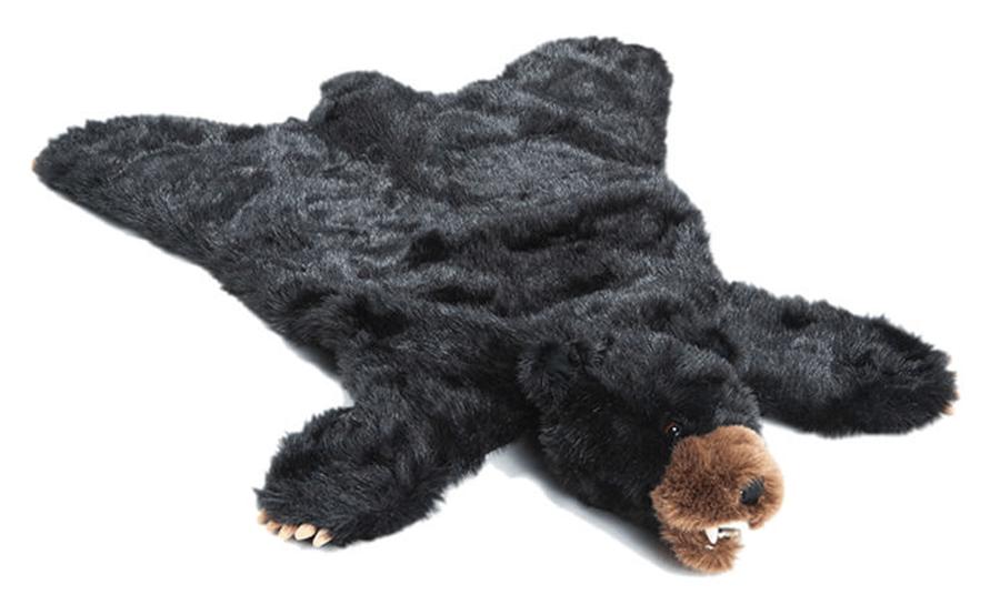 Plush Black Bear Animal Rug Playmat Small 24 X 36 Walmart Com In 2020 Nursery Bear Rug Animal Rug Bear Rug