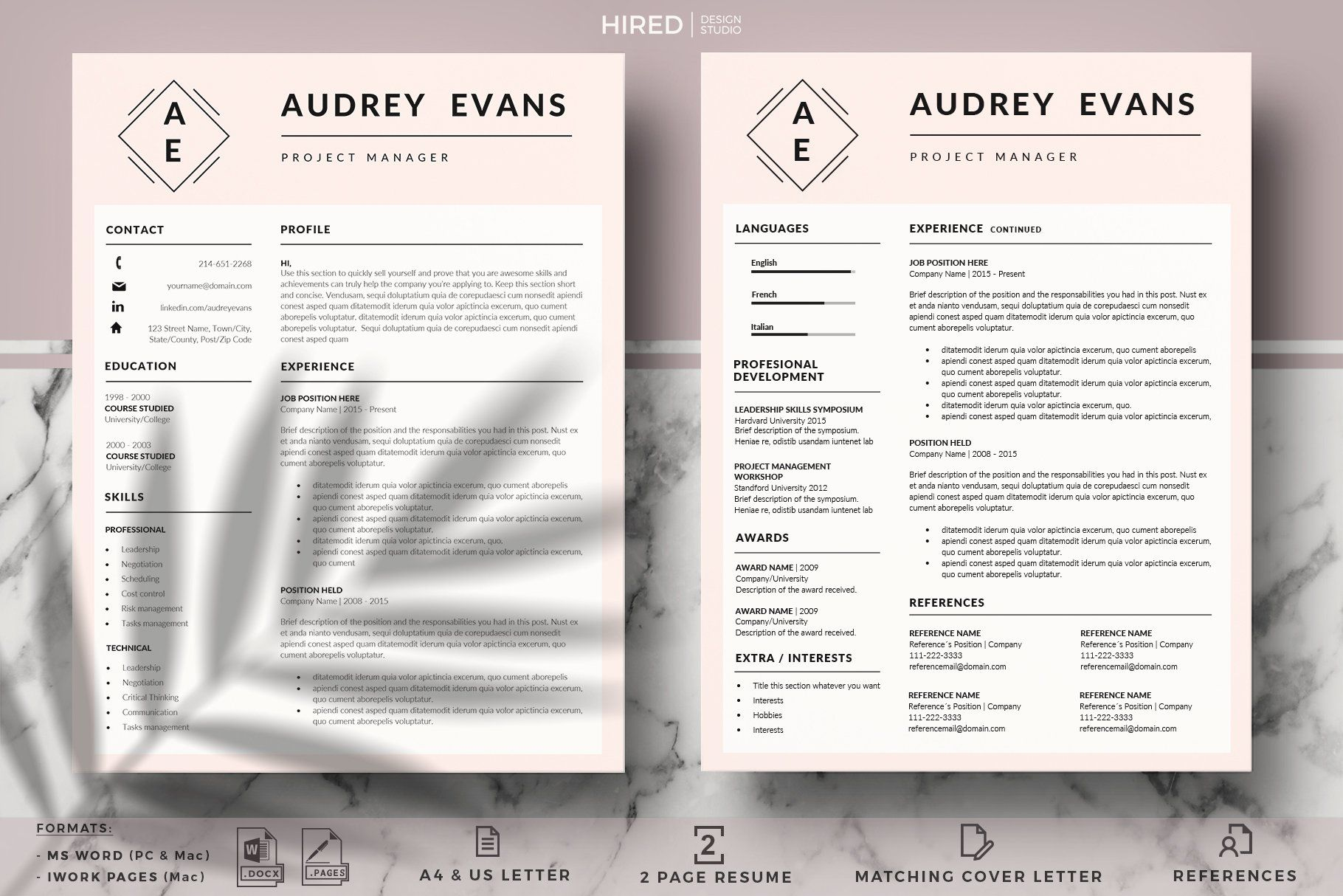 Modern And Creative Resume With Logo Project Manager Resume Creative Resume Manager Resume