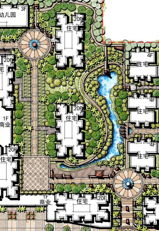 Landscape Corridor And Entryway Residential Garden Private Condominium