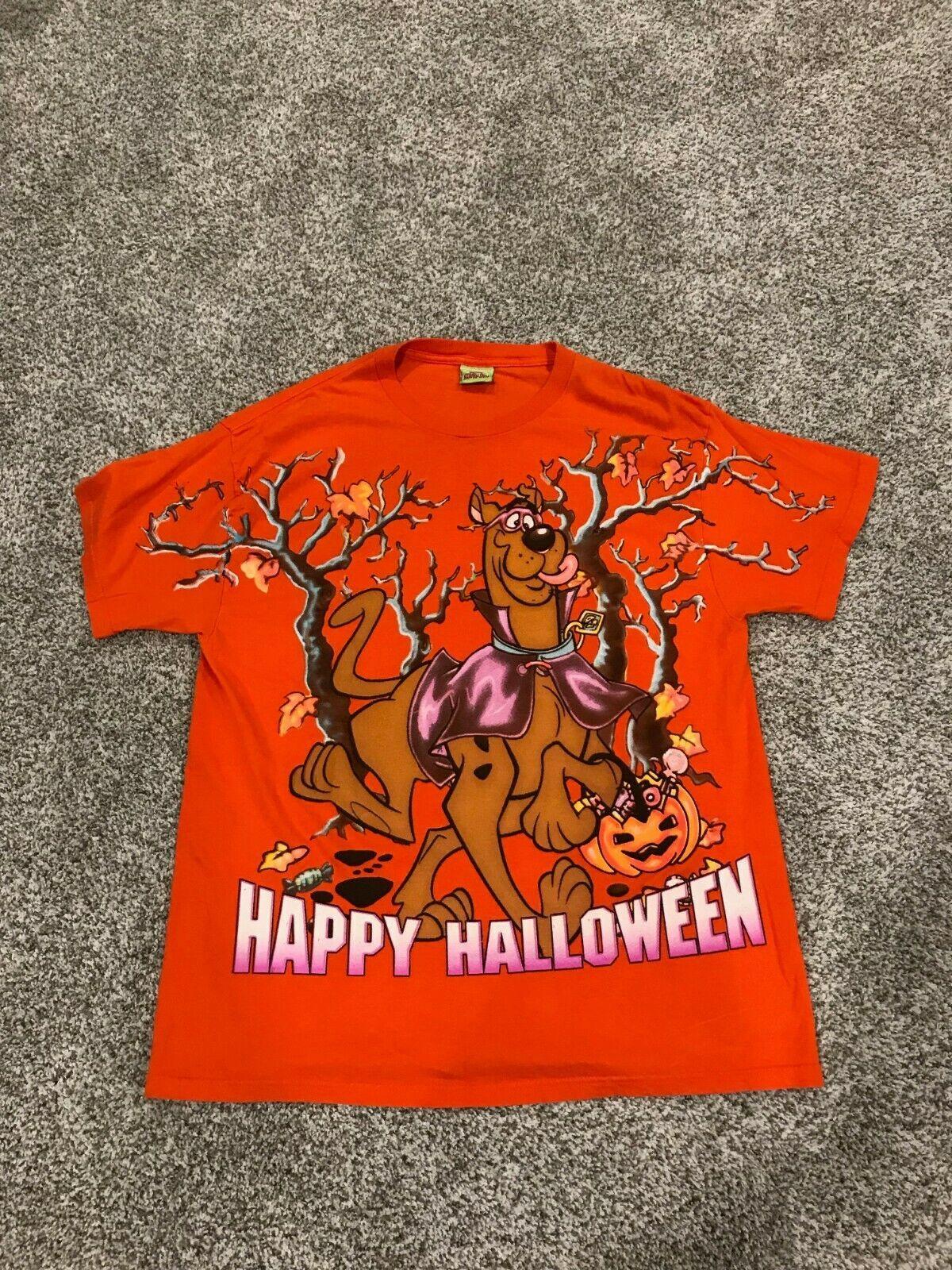 Vintage Cartoon Network 1999 Scooby Doo Happy Halloween T