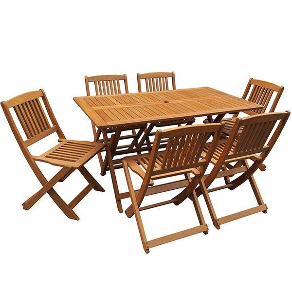 Salon de jardin en bois exotique Family - \