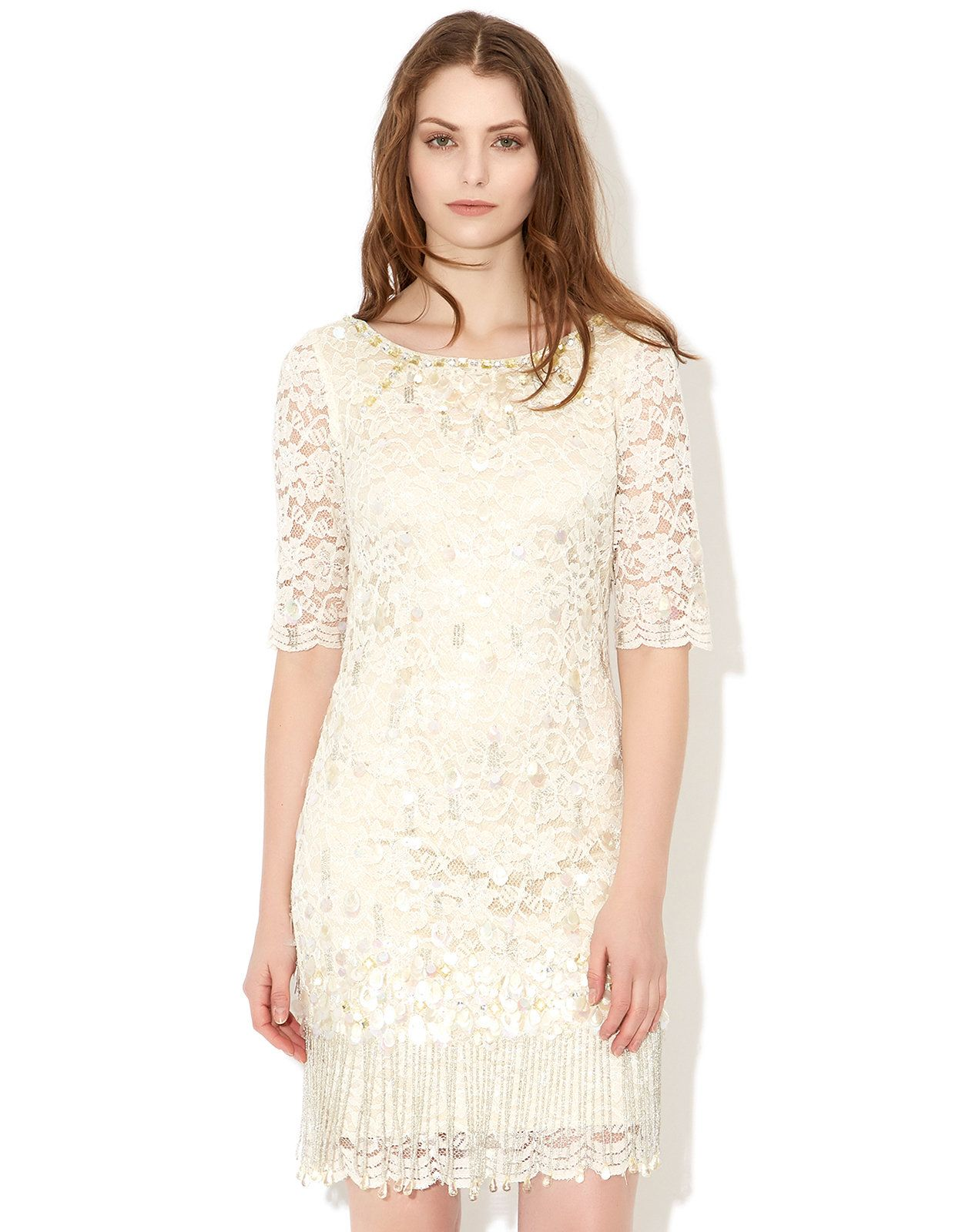 Costus lace dress cream monsoon things to wear current