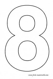 number 8 template template pinterest template number and math