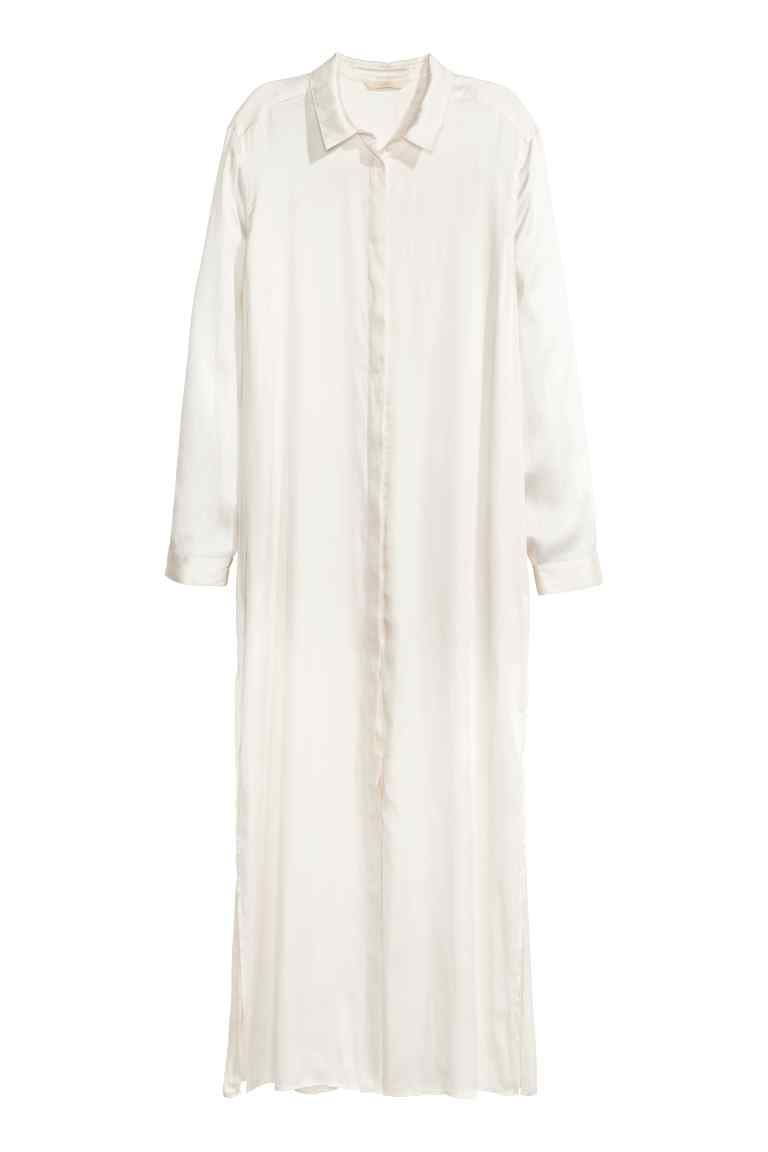 Рокляриза от сатен satin shirt long shirt dress and satin