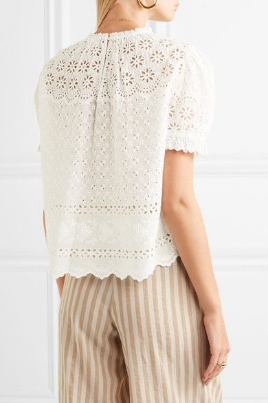 e6193b5182648b Ulla Johnson - Desi Broderie Anglaise Cotton Top - White | Products ...