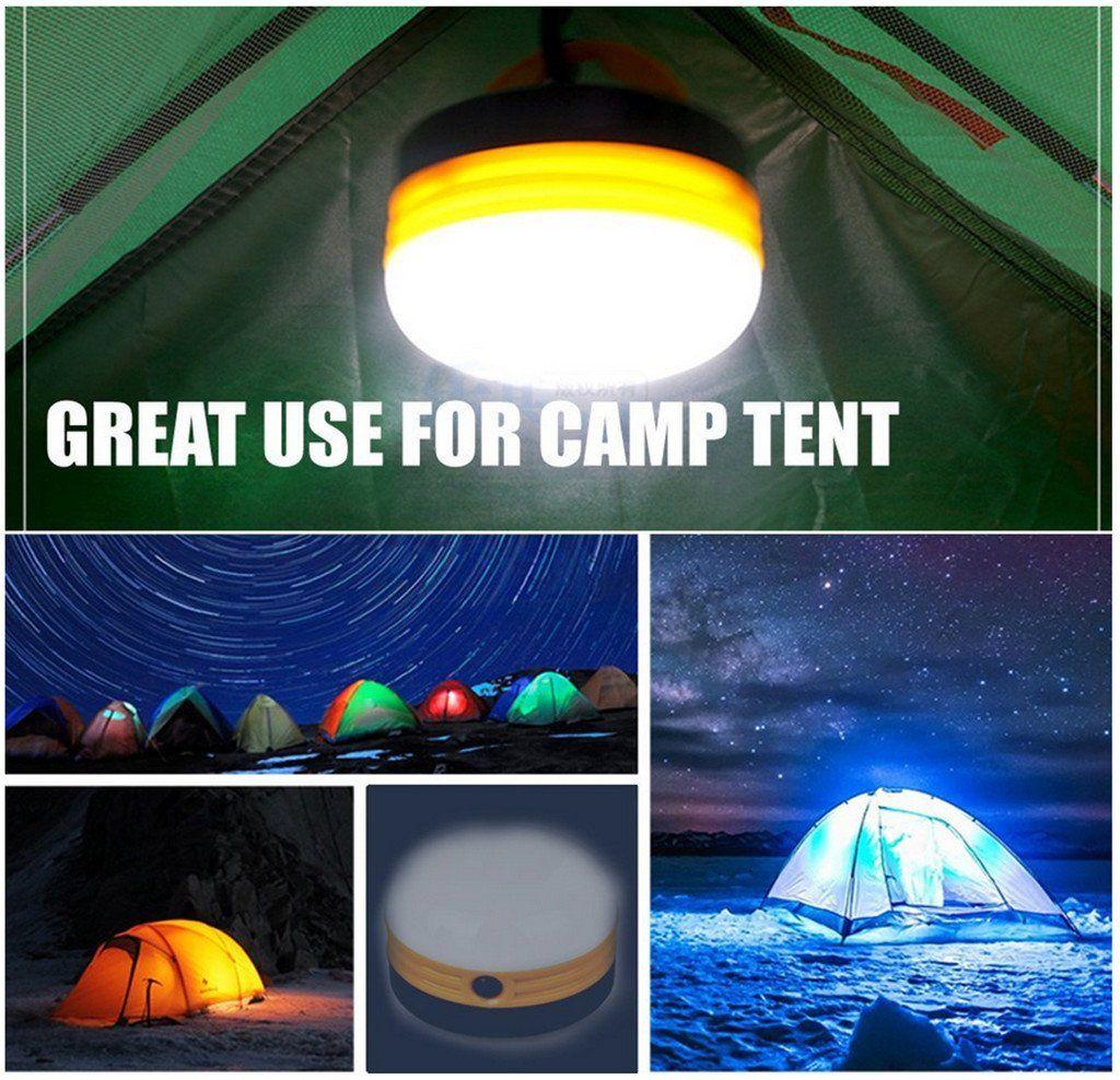 Vancic Led Portable Camping Lantern Lamp Tent Light Battery