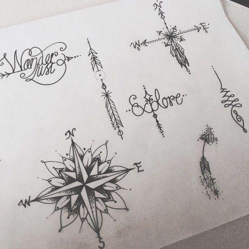 Mandala tattoo dotwork recherche google flower tattoos pinterest tatouages tatoo et - Tatouage theme voyage ...