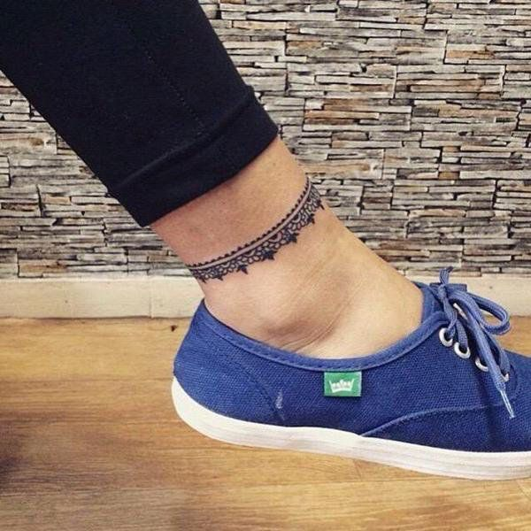 Actually Like This Ankle Tattoo Design Anklet Tattoos Ankle Bracelet Tattoo Ankle Tattoo Designs