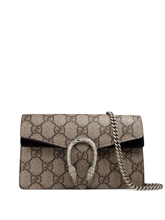 65d198cf532 100% !! GUCCI Dionysus GG Supreme Mini Chain Shoulder Bag, 800 ...