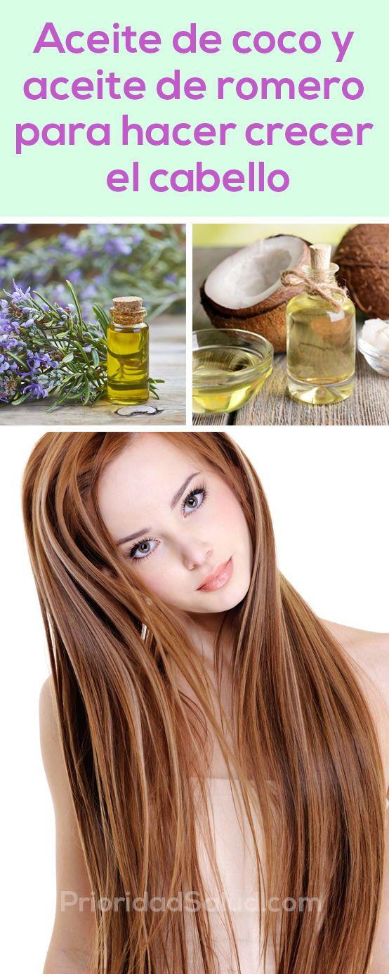 Usa Así Aceite De Coco Y Aceite De Romero Para Hacer Creer Tu Cabello Goddess Hairstyles Healthy Hair Beauty Hacks