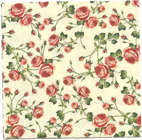 -386 Flower shop romantic street  design 4 Single paper decoupage napkins