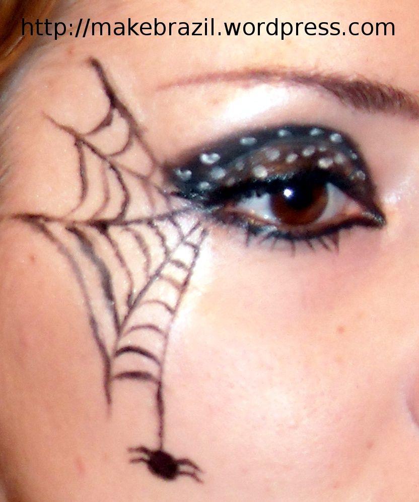 Make up Tutorial – Spider Web for Halloween | Spider webs, Spider ...