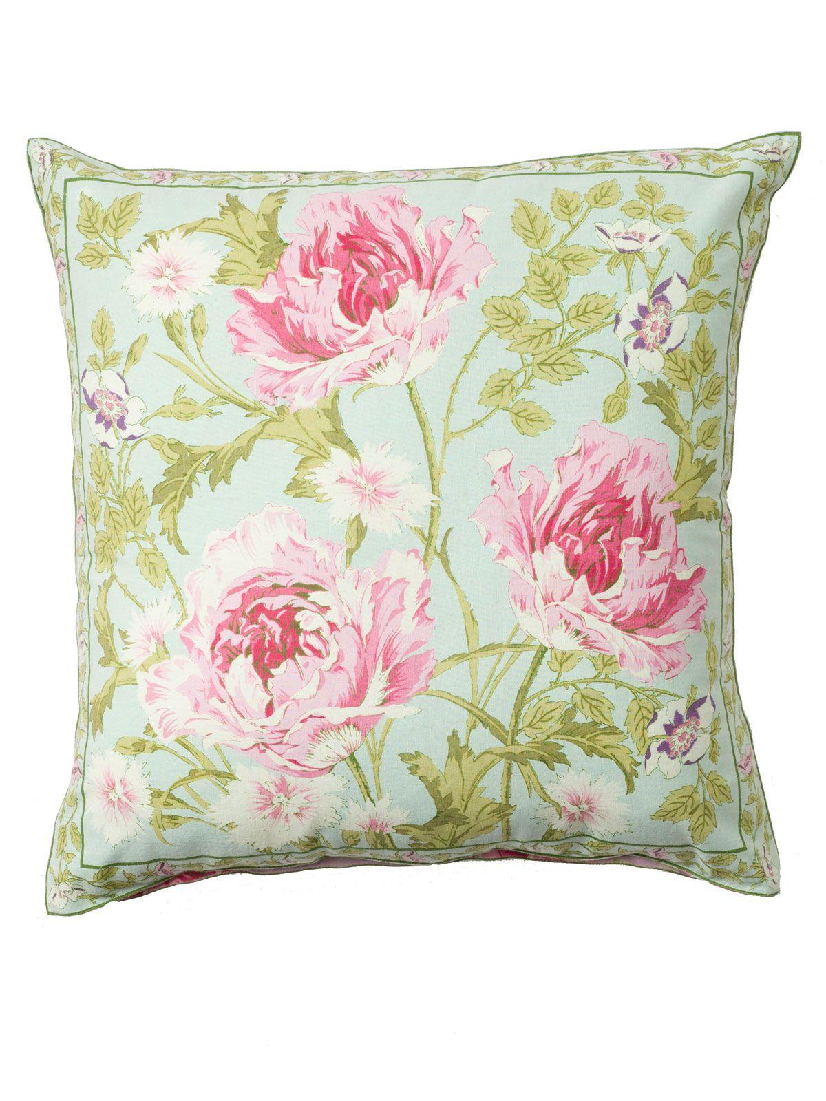 taie d/'oreiller pillow for teepee deorative pillow Kissenbezug pillowcase Roses on blue pillow for kids room |