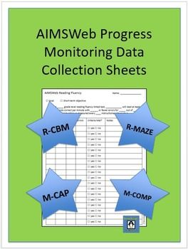 Aimsweb Data Collection Charts  Data Sheets Reading