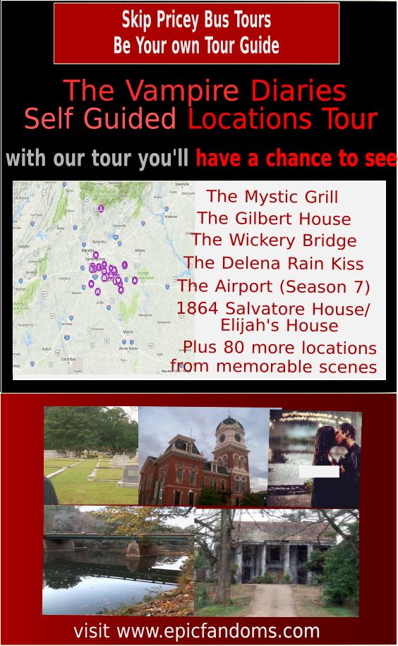 The Vampire Diaries Travel Guide Book Mystic Falls Film Etsy In 2020 Road Trip Fun Vampire Diaries Filming Locations