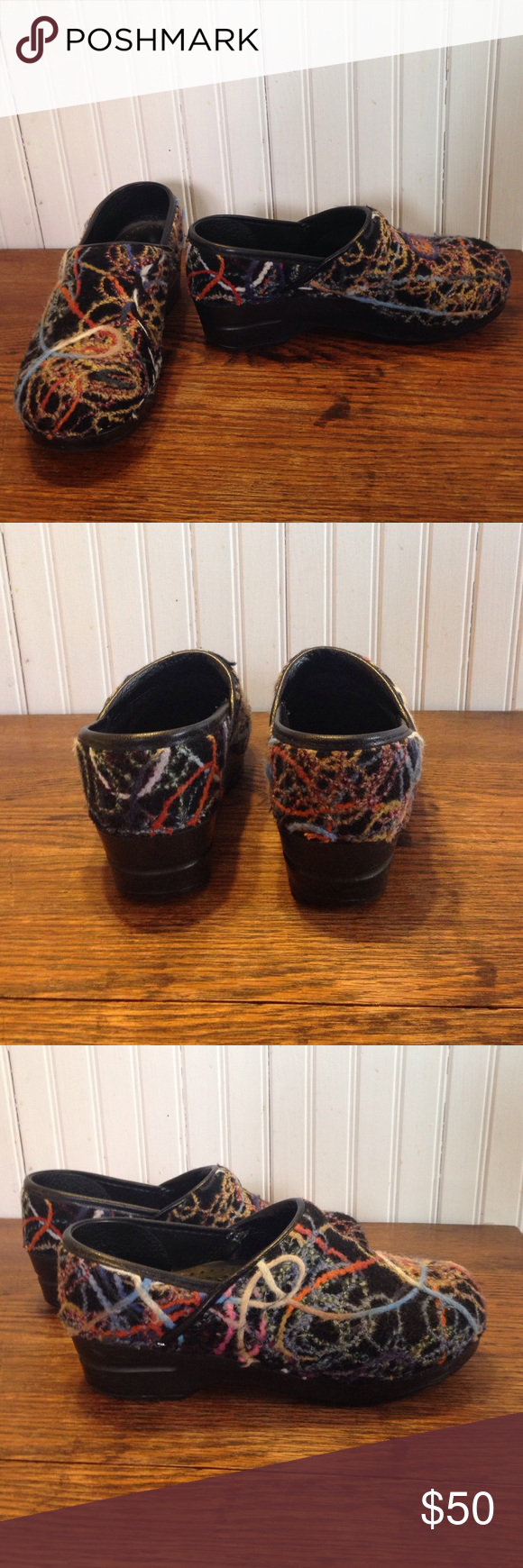 Dansko Clogs Black Professional Size 36 For Women Dansko Clogs Black Dansko clogs black professional size 36. Yarn like design . Great condition  Dansko Clogs Black Dansko Shoes Mules & Clogs