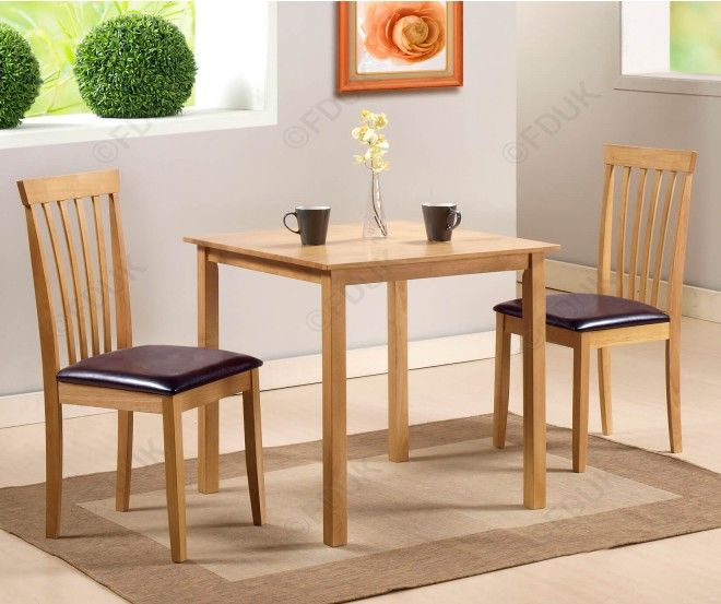 G&p Furniture Torino Square Dining Table With 2 Dining Chairs Amusing 2 Chair Dining Room Set Inspiration