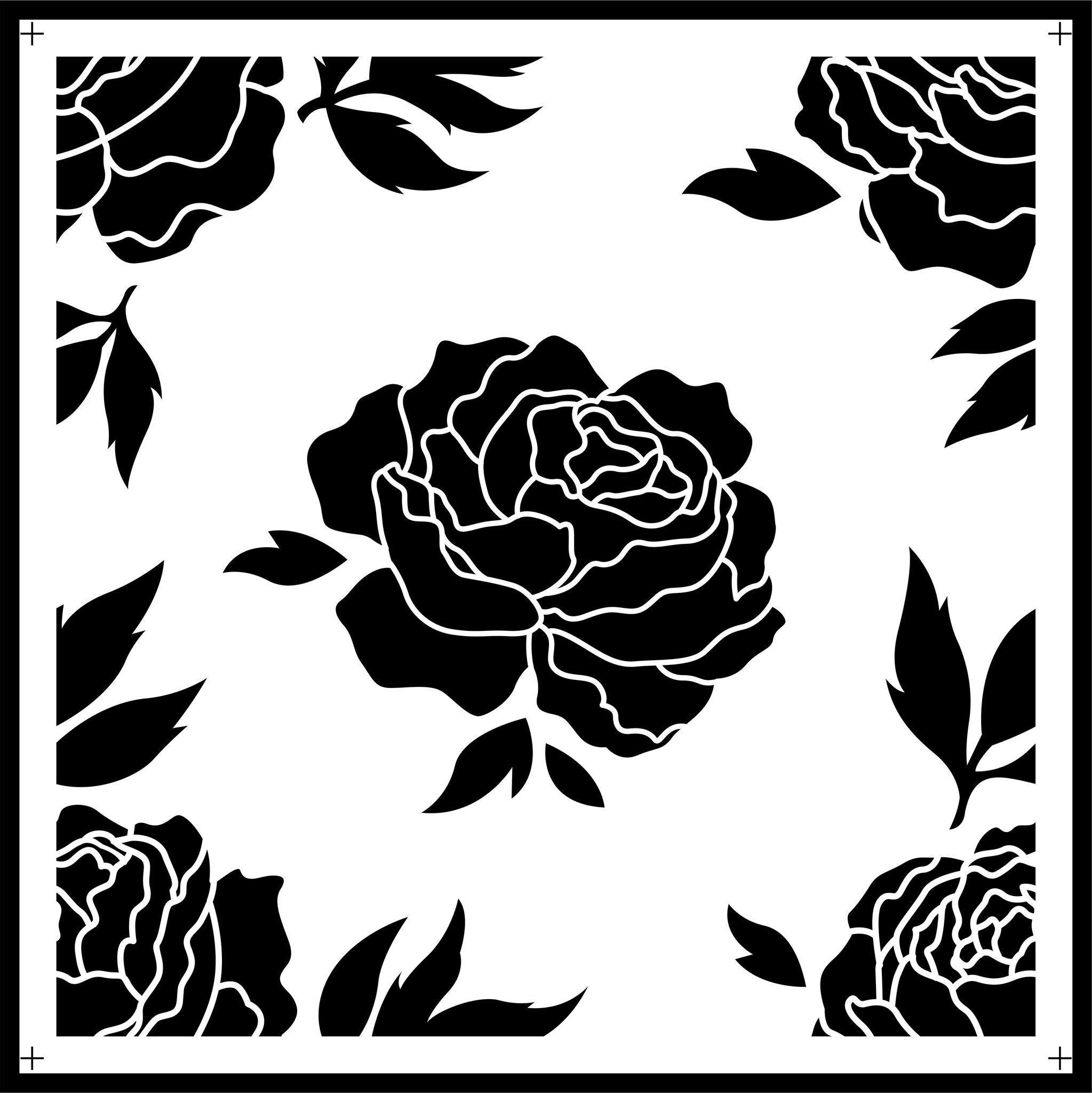 Photo of Rose Tile JRV Stencils