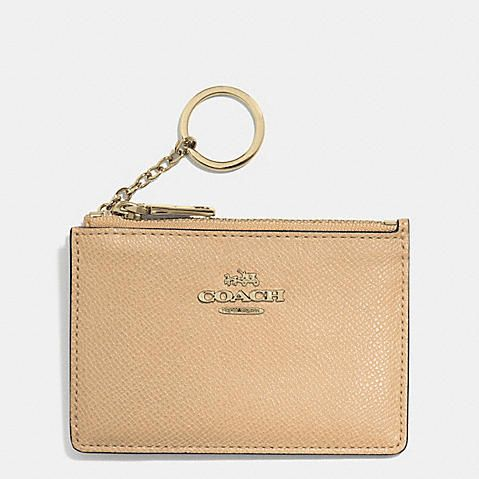 COACH Designer Accessories | Mini Skinny Id Case In Embossed Textured Leather