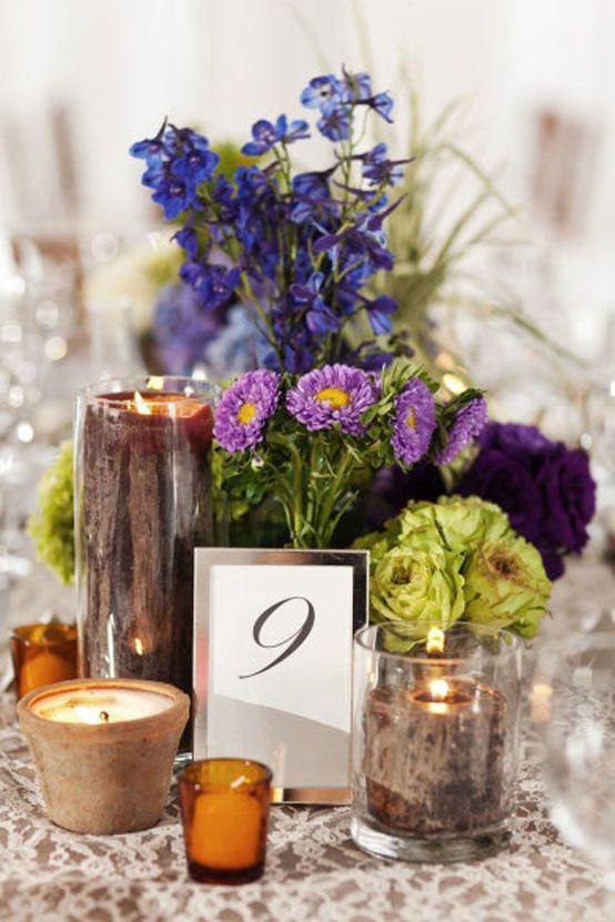 Centros de mesa para boda con flores naturales.