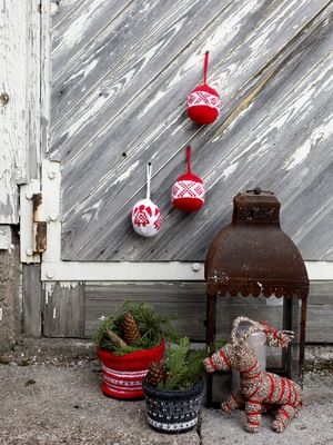 Joulupallot Novita Nalle | Novita knits
