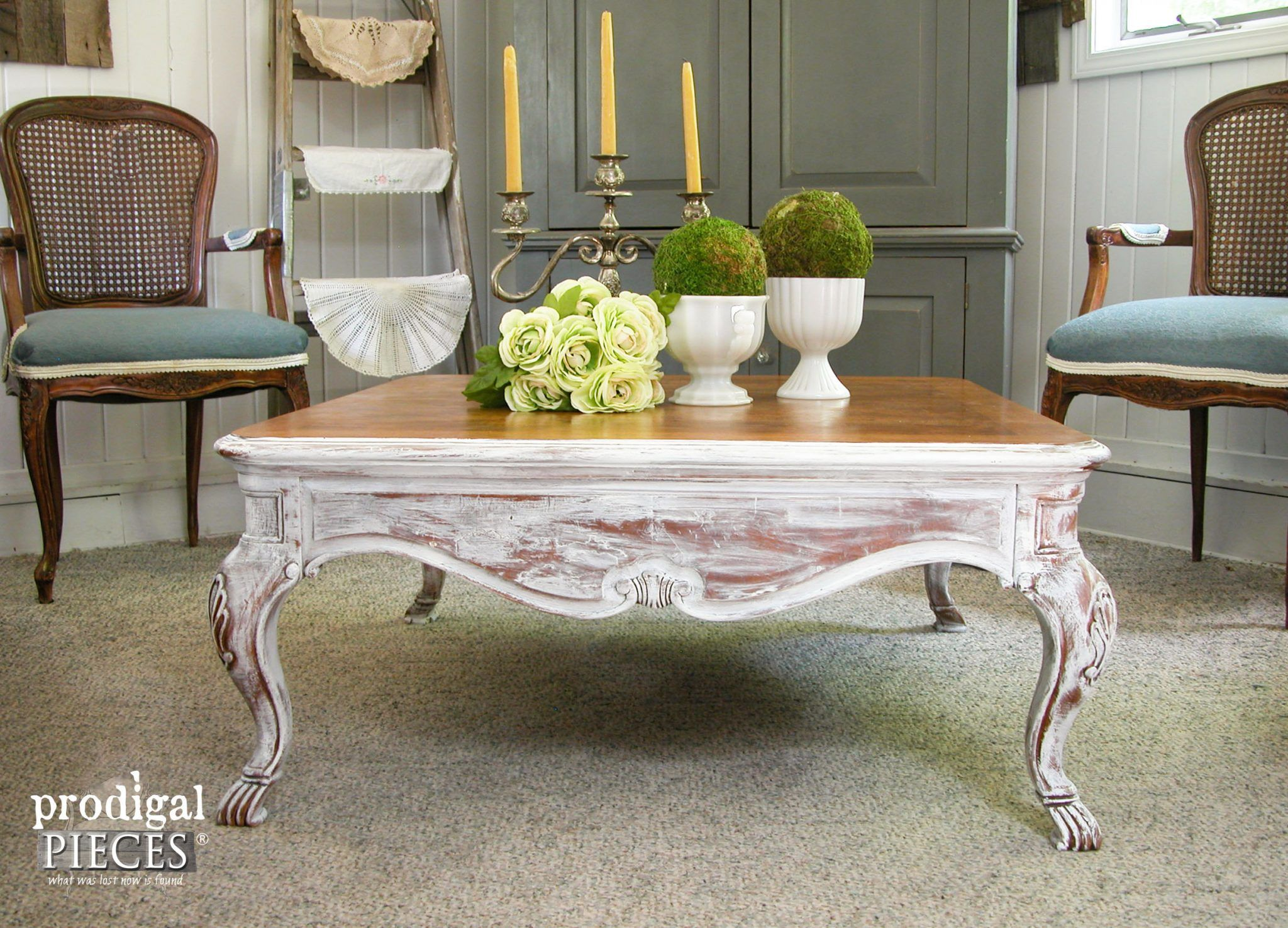 Coffee Table Makeover with French Country Style French country