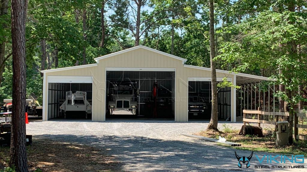 53'x40'x14' Carolina Barn in 2020 Metal buildings for